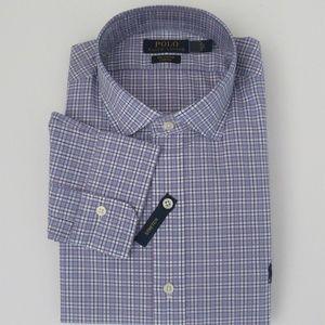 NWT Ralph Lauren LS Stretch Cotton Plaid Shirt